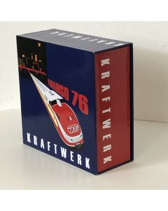 "KRAFTWERK - Empty Promo Drawer Box 2""1/2, Paradiso 76 (Japan mini-LP sizes)"